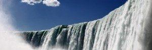 Looking Up At The Niagara Falls