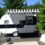 Small White Trailer With Canvas Canopy