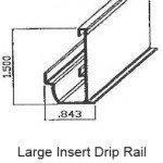 Large RV Insert Drip Rail PT#7-21097
