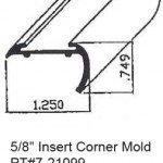 "5/8"" Insert Corner RV Mold & Trim PT#7-21099"