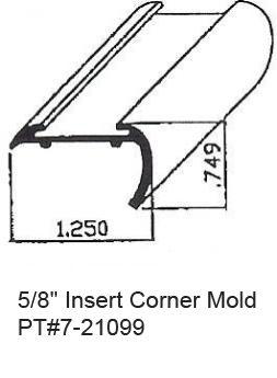 5 8 Quot Rv Insert Corner Mold Amp Trim In California Hemet