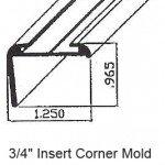 "3/4"" Insert Corner RV Mold & Trim PT#7-21100"