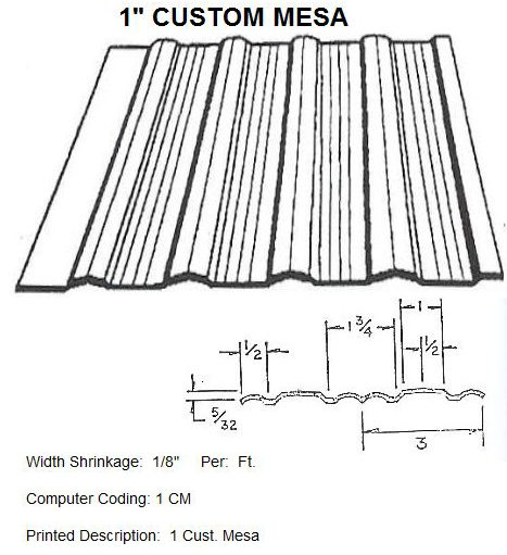 "1"" Custom Mesa RV Siding Pattern"
