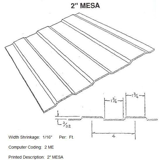 "2"" Mesa RV Siding Pattern"