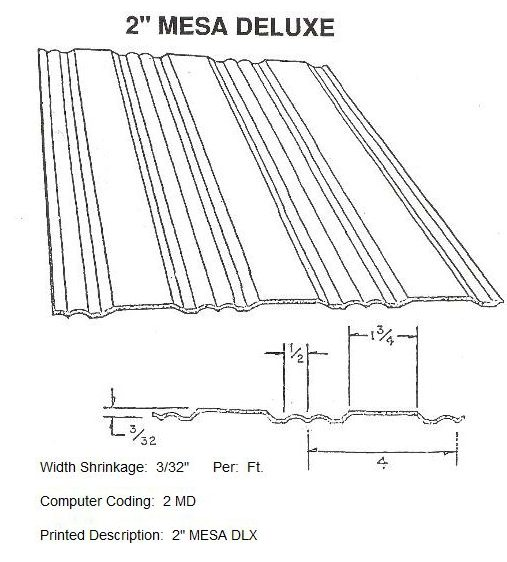 "2"" Mesa Deluxe RV Siding Pattern"