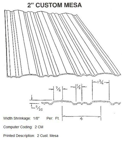 "2"" Custom Mesa RV Siding Pattern"