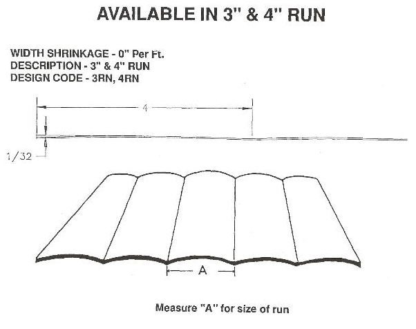 "3"" or 4"" Run RV Siding Pattern"