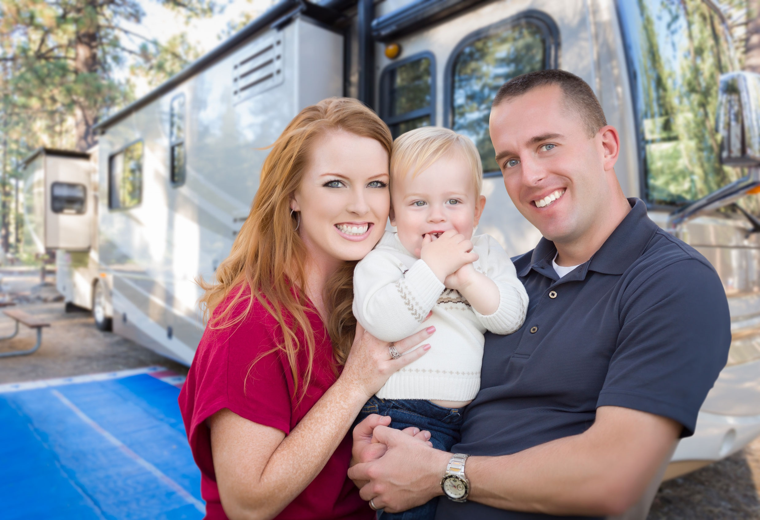 Family with New RV