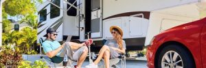 Millenial Couple Outside an RV